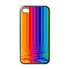 Faded Rainbow Apple Iphone 4 Case (black) by Brittlevirginclothing