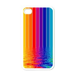 Faded Rainbow Apple Iphone 4 Case (white)