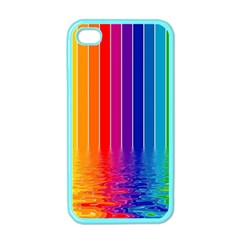 Faded Rainbow Apple Iphone 4 Case (color) by Brittlevirginclothing