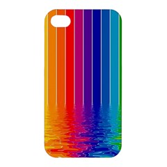 Faded Rainbow Apple Iphone 4/4s Hardshell Case by Brittlevirginclothing