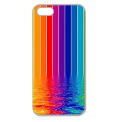 Faded Rainbow Apple Seamless Iphone 5 Case (clear) by Brittlevirginclothing