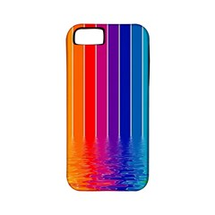 Faded Rainbow Apple Iphone 5 Classic Hardshell Case (pc+silicone)