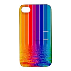 Faded Rainbow Apple Iphone 4/4s Hardshell Case With Stand by Brittlevirginclothing