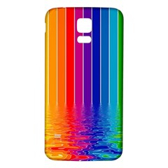 Faded Rainbow Samsung Galaxy S5 Back Case (white)
