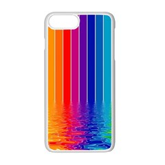 Faded Rainbow Apple Iphone 7 Plus White Seamless Case