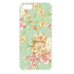 Vintage Pastel Flowers Apple Iphone 5 Seamless Case (white) by Brittlevirginclothing