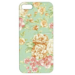 Vintage Pastel Flowers Apple Iphone 5 Hardshell Case With Stand