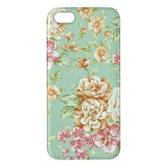 Vintage Pastel Flowers Apple Iphone 5 Premium Hardshell Case by Brittlevirginclothing