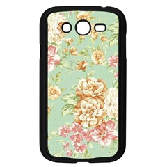 Vintage Pastel Flowers Samsung Galaxy Grand Duos I9082 Case (black)