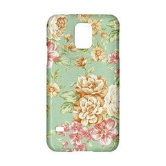 Vintage Pastel Flowers Samsung Galaxy S5 Hardshell Case