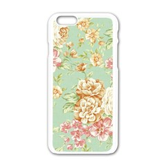 Vintage Pastel Flowers Apple Iphone 6/6s White Enamel Case by Brittlevirginclothing