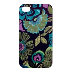 Dark Lila Flowers Apple Iphone 4/4s Premium Hardshell Case by Brittlevirginclothing