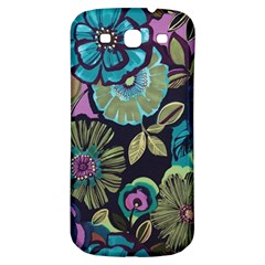 Dark Lila Flowers Samsung Galaxy S3 S Iii Classic Hardshell Back Case by Brittlevirginclothing