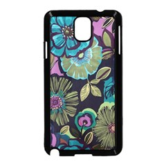 Dark Lila Flowers Samsung Galaxy Note 3 Neo Hardshell Case (black) by Brittlevirginclothing
