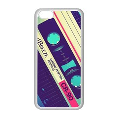Vintage Casette  Apple Iphone 5c Seamless Case (white) by Brittlevirginclothing