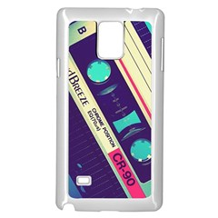 Vintage Casette  Samsung Galaxy Note 4 Case (white) by Brittlevirginclothing