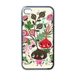 Cute Cartoon Characters Apple Iphone 4 Case (black)