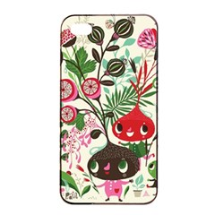 Cute Cartoon Characters Apple Iphone 4/4s Seamless Case (black) by Brittlevirginclothing
