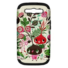 Cute Cartoon Characters Samsung Galaxy S Iii Hardshell Case (pc+silicone) by Brittlevirginclothing
