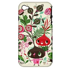Cute Cartoon Characters Apple Iphone 4/4s Hardshell Case (pc+silicone) by Brittlevirginclothing