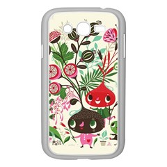 Cute Cartoon Characters Samsung Galaxy Grand Duos I9082 Case (white)
