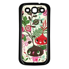 Cute Cartoon Characters Samsung Galaxy S3 Back Case (black) by Brittlevirginclothing