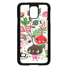 Cute Cartoon Characters Samsung Galaxy S5 Case (black)