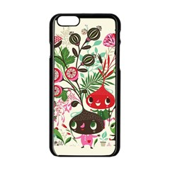 Cute Cartoon Characters Apple Iphone 6/6s Black Enamel Case by Brittlevirginclothing