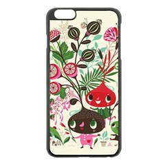 Cute Cartoon Characters Apple Iphone 6 Plus/6s Plus Black Enamel Case by Brittlevirginclothing