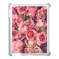 Pink Roses Apple Ipad 3/4 Case (white) by Brittlevirginclothing