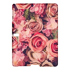 Pink Roses Samsung Galaxy Tab S (10 5 ) Hardshell Case  by Brittlevirginclothing