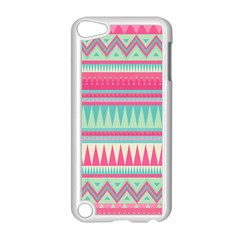 Cute Pink Bohemian Apple Ipod Touch 5 Case (white) by Brittlevirginclothing