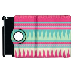 Cute Pink Bohemian Apple Ipad 2 Flip 360 Case by Brittlevirginclothing