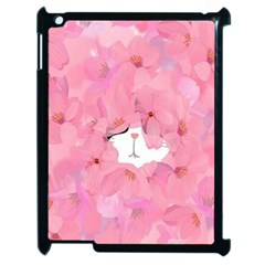 Cute Hidden Kitty Apple Ipad 2 Case (black) by Brittlevirginclothing