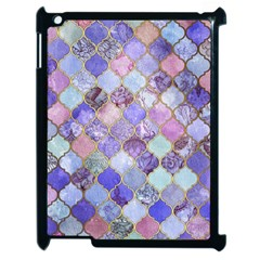 Blue Moroccan Mosaic Apple Ipad 2 Case (black) by Brittlevirginclothing