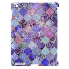 Blue Moroccan Mosaic Apple Ipad 3/4 Hardshell Case (compatible With Smart Cover) by Brittlevirginclothing