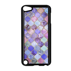 Blue Moroccan Mosaic Apple Ipod Touch 5 Case (black) by Brittlevirginclothing