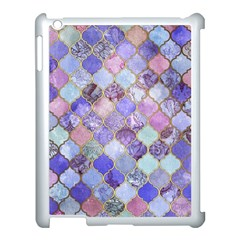 Blue Moroccan Mosaic Apple Ipad 3/4 Case (white) by Brittlevirginclothing