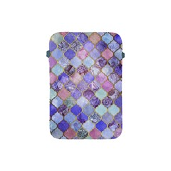 Blue Moroccan Mosaic Apple Ipad Mini Protective Soft Cases by Brittlevirginclothing