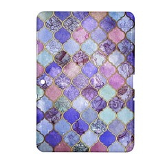Blue Moroccan Mosaic Samsung Galaxy Tab 2 (10 1 ) P5100 Hardshell Case  by Brittlevirginclothing