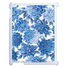 Blue Flower Apple Ipad 2 Case (white) by Brittlevirginclothing