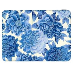 Blue Flower Samsung Galaxy Tab 7  P1000 Flip Case by Brittlevirginclothing