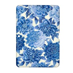 Blue Flower Samsung Galaxy Tab 2 (10 1 ) P5100 Hardshell Case  by Brittlevirginclothing