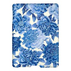 Blue Flower Samsung Galaxy Tab S (10 5 ) Hardshell Case  by Brittlevirginclothing