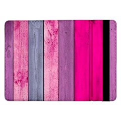 Pink Wood Samsung Galaxy Tab Pro 12 2  Flip Case by Brittlevirginclothing
