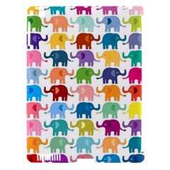 Cute Colorful Elephants Apple Ipad 3/4 Hardshell Case (compatible With Smart Cover) by Brittlevirginclothing