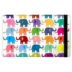 Cute Colorful Elephants Apple Ipad 2 Flip Case by Brittlevirginclothing
