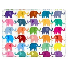 Cute Colorful Elephants Samsung Galaxy Tab 7  P1000 Flip Case by Brittlevirginclothing