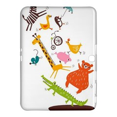 Cute Cartoon  Samsung Galaxy Tab 4 (10 1 ) Hardshell Case  by Brittlevirginclothing