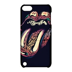 The Rolling Stones Glowing Apple Ipod Touch 5 Hardshell Case With Stand by Brittlevirginclothing